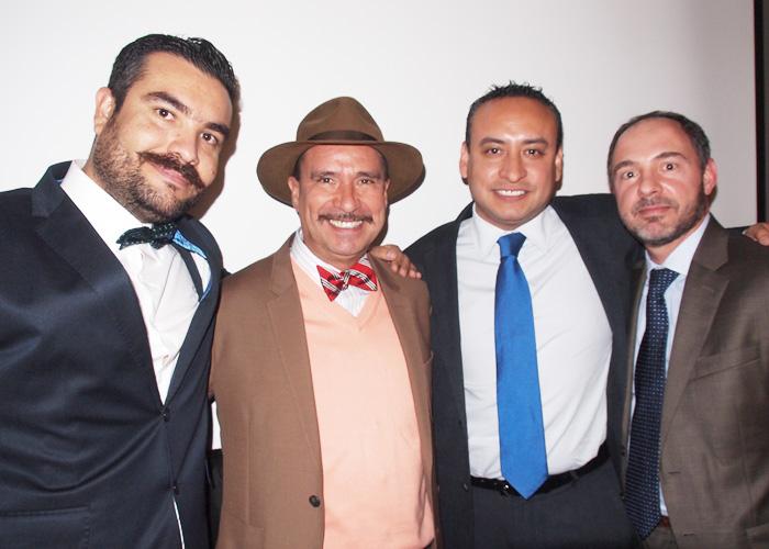 Alonso Ornelas, René Torres y Alejandro Santiago