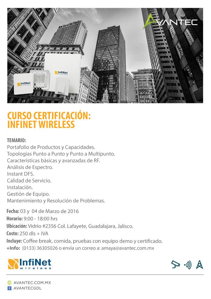 Invitación Certificación Infinet 03 y 04 de marzo en Guadalajara