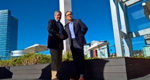 Jorge Silva, General Manager de Microsoft México con José Luis Sánchez, Country Manager de Red Hat México