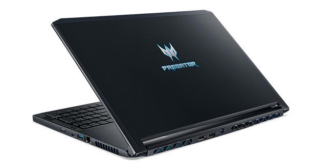 El modelo PT715-51-75EK Predator es una laptop gaming de alto desempeño, ultra ligera que tan sólo pesa 2.45 kg. con teclado mecánico, dura hasta 5 horas batería ion litio, el ventilador Dual Acer AeroBlade provee un poderoso desempeño termal que permite que su diseño sea delgado.